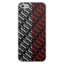 """Чехол для iPhone 5/5S, объёмная печать """"Supreme"""" - узор, надписи, бренд, supreme, суприм"""