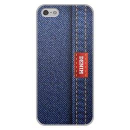 """Чехол для iPhone 5/5S, объёмная печать """"Джинсовый арт"""" - абстракция, джинсы, ткань, jeans, denim"""