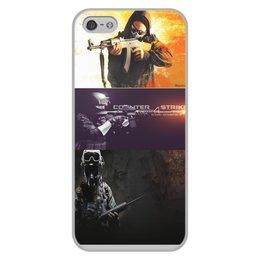 """Чехол для iPhone 5/5S, объёмная печать """"CONTER STRIKE"""" - чехол, cs go"""