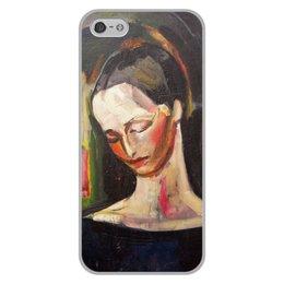 """Чехол для iPhone 5/5S, объёмная печать """"Женский портрет (картина Ильи Машкова)"""" - картина, портрет, живопись, машков"""