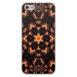 """Чехол для iPhone 5/5S, объёмная печать """"Голос Огня"""" - огонь, подарок, абстракция, фрактал, спектр"""