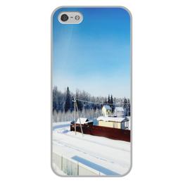 """Чехол для iPhone 5/5S, объёмная печать """"Зима. Мороз. Солнце."""" - зима, солнце, снег, мороз"""