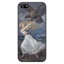 """Чехол для iPhone 5/5S, объёмная печать """"Атака (Эдвард Исто)"""" - картина, эдвард исто"""