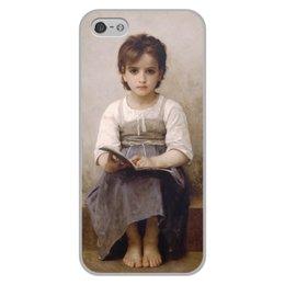 "Чехол для iPhone 5/5S, объёмная печать ""Трудный урок (картина Вильяма Бугро)"" - картина, академизм, живопись, школа, бугро"