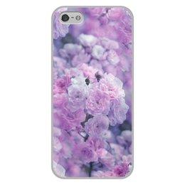 """Чехол для iPhone 5/5S, объёмная печать """"Цветы"""" - цветы"""