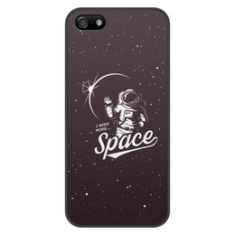 "Чехол для iPhone 5/5S, объёмная печать ""I need more space"" - космос, звезды, space"
