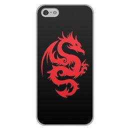 """Чехол для iPhone 5/5S, объёмная печать """"ДРАКОНЫ ФЭНТЕЗИ. СИМВОЛИКА"""" - стиль, дракон, красота, эмблема, символ"""
