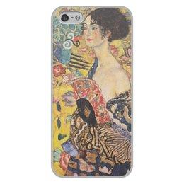 """Чехол для iPhone 5/5S, объёмная печать """"Дама с веером (Густав Климт)"""" - картина, климт"""
