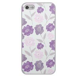 """Чехол для iPhone 5/5S, объёмная печать """"цветы"""" - лето, цветы, узор, природа, цветочки"""
