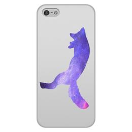 """Чехол для iPhone 5/5S, объёмная печать """"Space animals"""" - space, космос, fox, лиса, астрономия"""