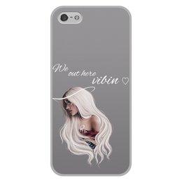 """Чехол для iPhone 5/5S, объёмная печать """"Ариана Гранде"""" - музыка, арт, фотография, арианагранде"""