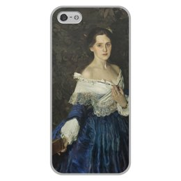 """Чехол для iPhone 5/5S, объёмная печать """"Дама в голубом (картина Сомова)"""" - картина, портрет, живопись, модерн, сомов"""