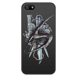 """Чехол для iPhone 5/5S, объёмная печать """"The Suicider"""" - metal, dark"""