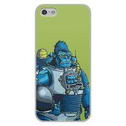 """Чехол для iPhone 5/5S, объёмная печать """"Космическая горилла"""" - юмор, космос, обезьяна, горилла, космические войска"""