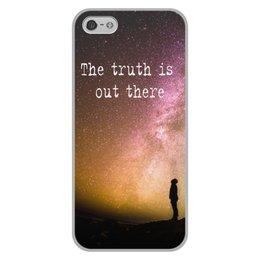 """Чехол для iPhone 5/5S, объёмная печать """"X-files"""" - space, фраза, космос, x-files, x files"""