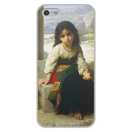 """Чехол для iPhone 5/5S, объёмная печать """"Маленькая нищенка (картина Вильяма Бугро)"""" - картина, девочка, академизм, живопись, бугро"""