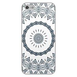"""Чехол для iPhone 5/5S, объёмная печать """"Барабан Альт"""" - музыка, белый, подарок, женщине, мужчине"""