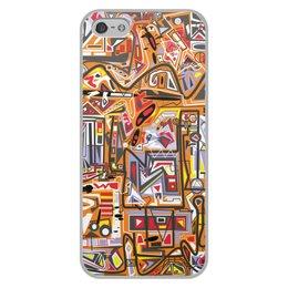 """Чехол для iPhone 5/5S, объёмная печать """"Оранжевый дом."""" - арт, узор, абстракция, фигуры, текстура"""