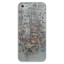 """Чехол для iPhone 5/5S, объёмная печать """"Цифры"""" - арт, цифры, фактурный"""