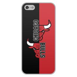 "Чехол для iPhone 5/5S, объёмная печать ""Чикаго Буллз"" - спорт, баскетбол, chicago bulls, чикаго буллз"