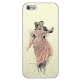 """Чехол для iPhone 5/5S, объёмная печать """"День Святого Валентина"""" - настроение, картина, винтаж, 14фев, harrison fisher"""