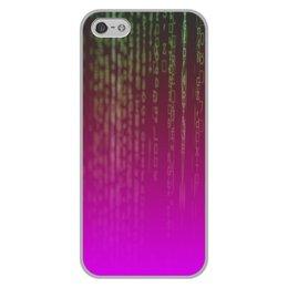 "Чехол для iPhone 5/5S, объёмная печать ""Матрица"" - компьютеры, матрица, код, программа, пароль"