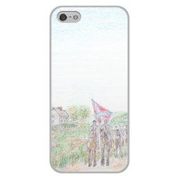 """Чехол для iPhone 5/5S, объёмная печать """"Кавалерия Конфедерации"""" - армия, война, сша, кавалерия, гражданская война сша"""