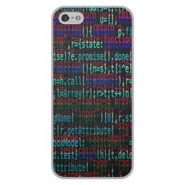 """Чехол для iPhone 5/5S, объёмная печать """"Программа"""" - компьютеры, код, программа, пароль, кодировка"""