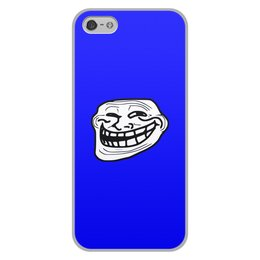 """Чехол для iPhone 5/5S, объёмная печать """"Mem смех"""" - смех, приколы, лицо, мемы, mem"""