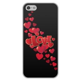 "Чехол для iPhone 5/5S, объёмная печать ""Без названия"" - сердце, любовь, сердечки, i love you, я люблю тебя"