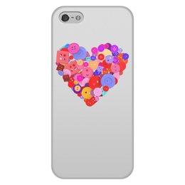 """Чехол для iPhone 5/5S, объёмная печать """"День всех влюбленных"""" - любовь, день святого валентина, валентинка, i love you, день влюбленных"""