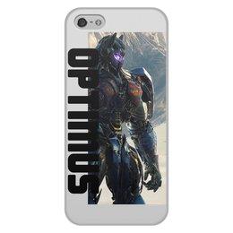 """Чехол для iPhone 5/5S, объёмная печать """"OPTIMUS. """" - ччехол, акссесуар, мужской чехол, чехол для смартфон"""