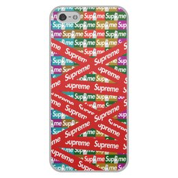 "Чехол для iPhone 5/5S, объёмная печать ""Supreme"" - надписи, бренд, brand, supreme, суприм"