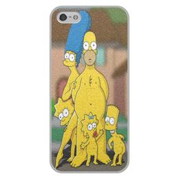 """Чехол для iPhone 5/5S, объёмная печать """"The Simpsons 18+"""" - гомер симпсон"""