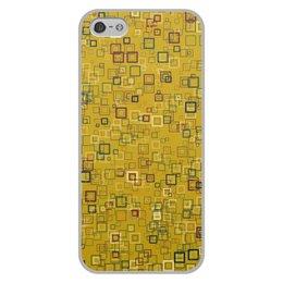 """Чехол для iPhone 5/5S, объёмная печать """"Квадраты"""" - квадрат, яркий"""