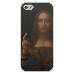 """Чехол для iPhone 5/5S, объёмная печать """"Спаситель мира Леонардо да Винчи """" - арт, картина, живопись, леонардо да винчи, спаситель мира"""