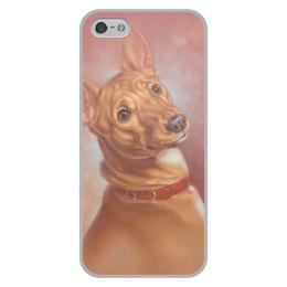 """Чехол для iPhone 5/5S, объёмная печать """"БАСЕНДЖИ"""" - арт, собаки, породы"""