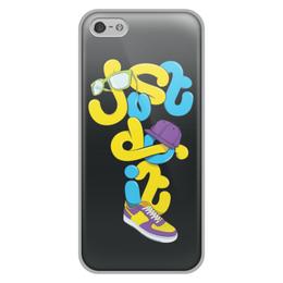 """Чехол для iPhone 5/5S, объёмная печать """"Just do it (просто сделай это)"""" - just do it, цитаты"""