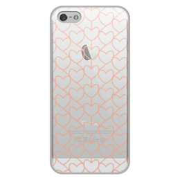 """Чехол для iPhone 5/5S, объёмная печать """"Сердце"""" - любовь, сердце, день святого валентина"""