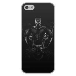 """Чехол для iPhone 5/5S, объёмная печать """"Черная пантера"""" - комиксы, марвел, черная пантера, black panther"""