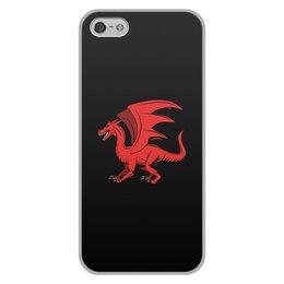 """Чехол для iPhone 5/5S, объёмная печать """"дракон"""" - крылья, животные, дракон, dragon, динозавр"""