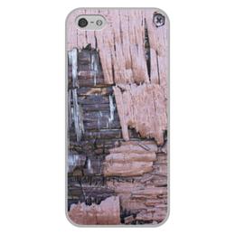 """Чехол для iPhone 5/5S, объёмная печать """"Деревянный"""" - оригинальный, деревянный, амбарная доска"""