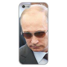 """Чехол для iPhone 5/5S, объёмная печать """"ПУТИН. ПОЛИТИКА"""" - арт, стиль, очки, россия, президент"""
