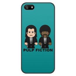 """Чехол для iPhone 5/5S, объёмная печать """"Pulp Fiction"""" - тарантино, криминальное чтиво, джон траволта, сэмюэл лерой джексон, культовое кино"""