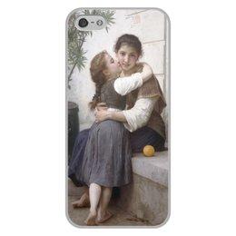 """Чехол для iPhone 5/5S, объёмная печать """"Объятия (картина Вильяма Бугро)"""" - картина, поцелуй, академизм, живопись, бугро"""