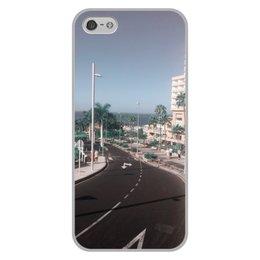"""Чехол для iPhone 5/5S, объёмная печать """"Тенерифе """" - море, улица, пальмы, тенерифе"""