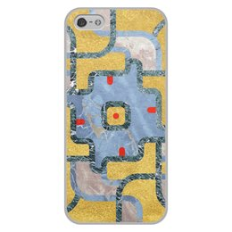 """Чехол для iPhone 5/5S, объёмная печать """"Мандала Богатства Золото и Мрамор (Орнамент)"""" - узор, орнамент, камень, богатство, премиум"""
