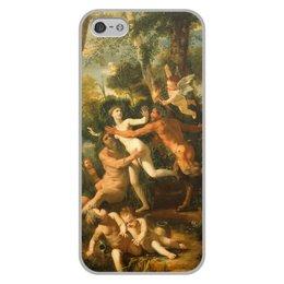 """Чехол для iPhone 5/5S, объёмная печать """"Пан и Сиринга (Никола Пуссен)"""" - картина, живопись, мифология, пуссен, классицизм"""