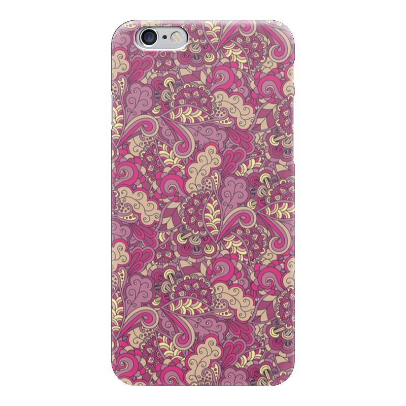 Чехол для iPhone 6 глянцевый Printio Розовый дудл узор