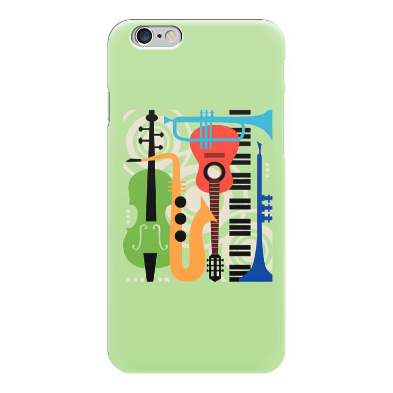 Чехол для iPhone 6 глянцевый Printio Музыкальные инструменты